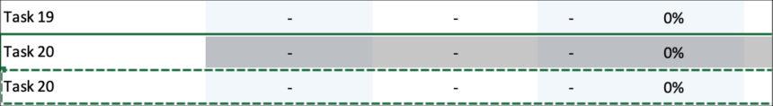 Simple Gantt Chart Task Rows