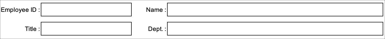Simple Timesheet Employee Details