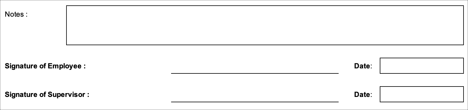 Simple Timesheet Signatures