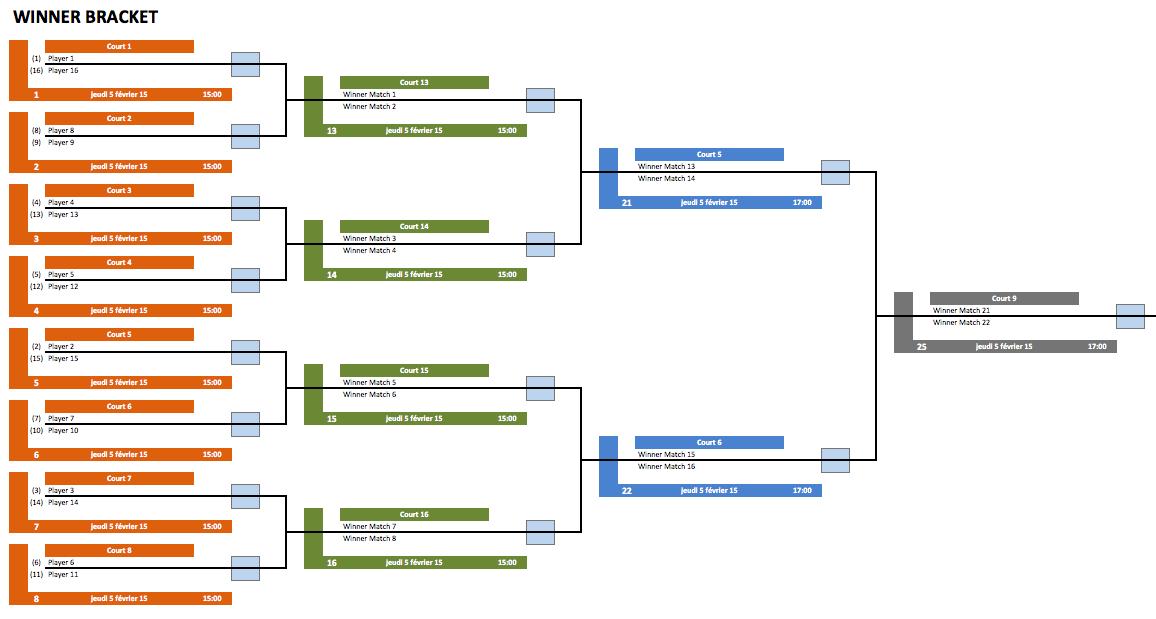 Generator tournament excel bracket Tournament Templates