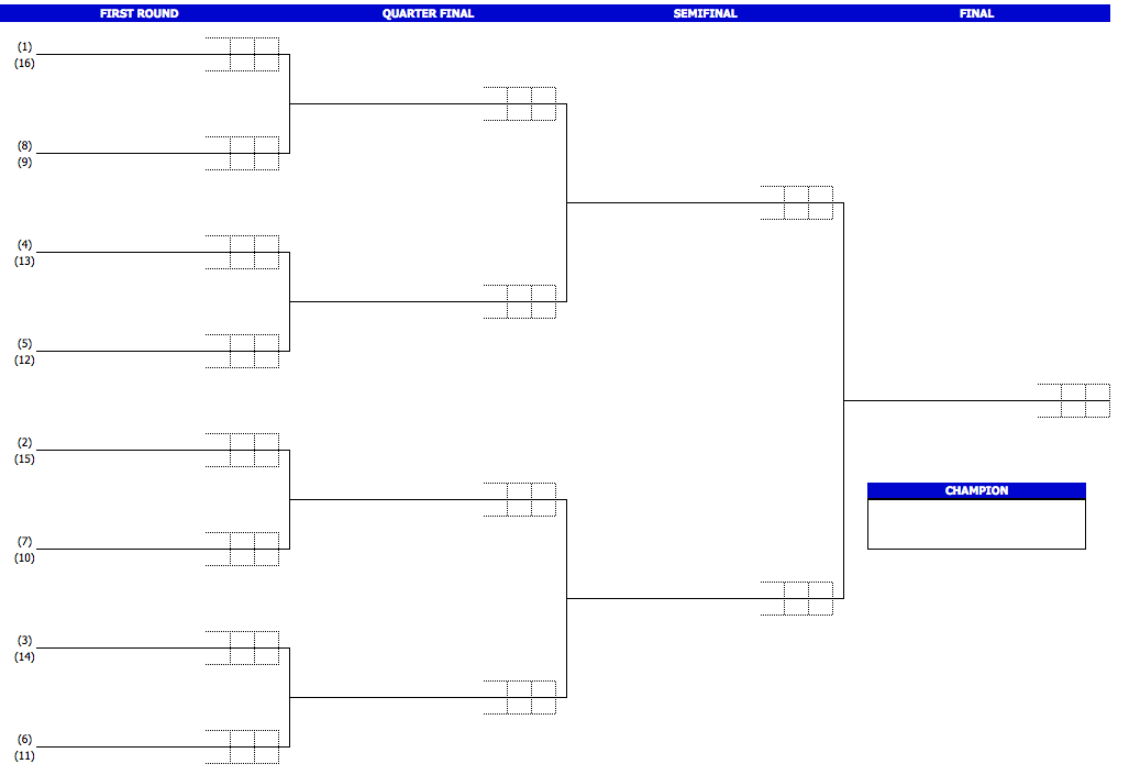 Tennis Tournament Bracket Template