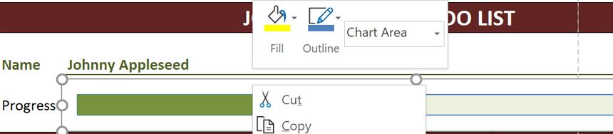 Things To Do List edit progress bar