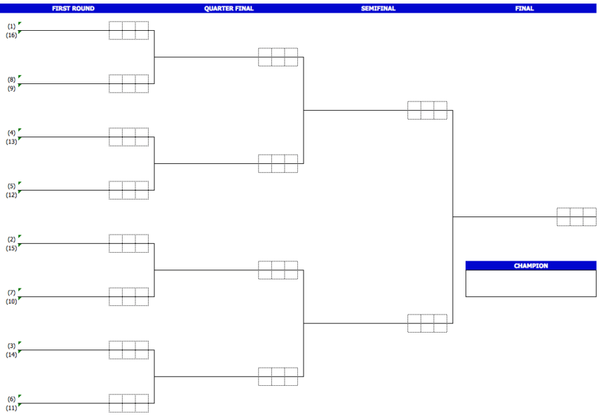 Tournament Brackets 16 teams