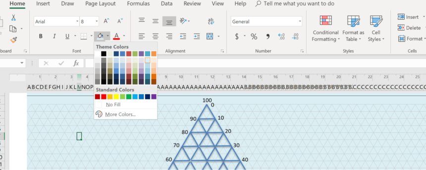 Triangular Graph Paper Template Colors