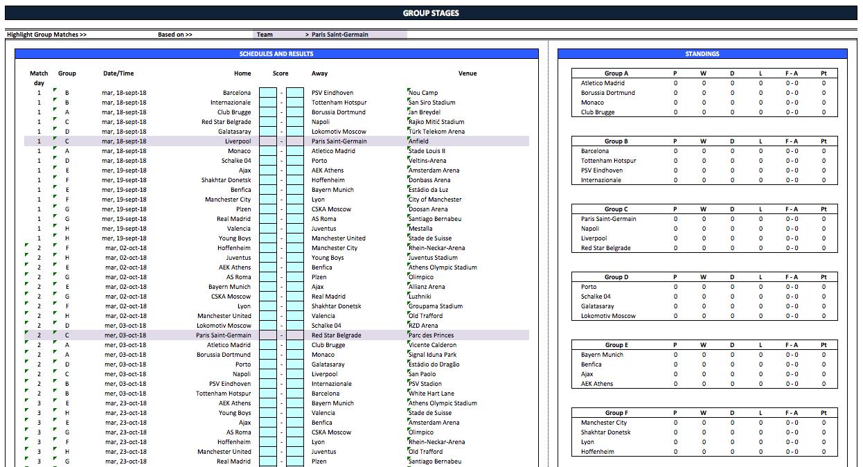 15+ Uefa Champions League 2020 Fixtures