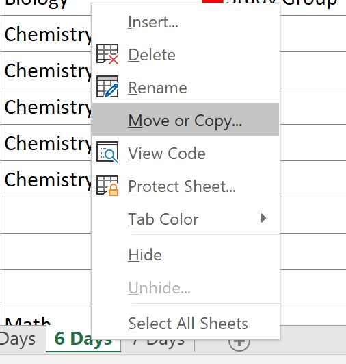 college schedule new week worksheet