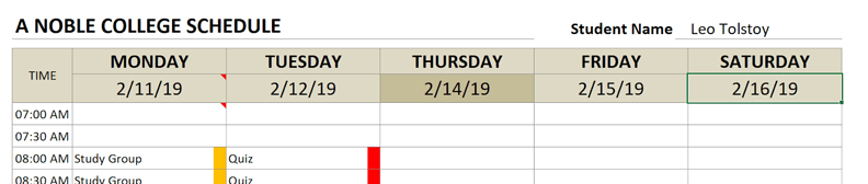 college schedule start date overwrite