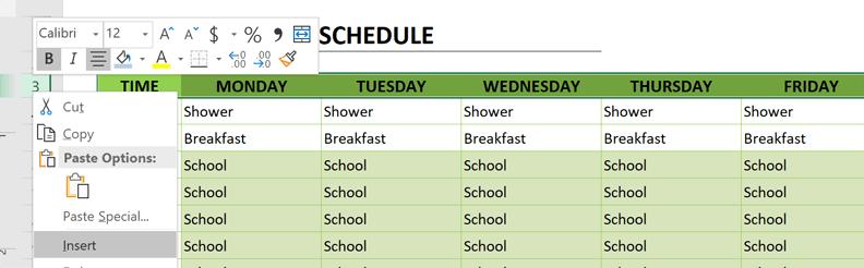 homeschool schedule add dates