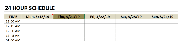 schedule overwrite the date