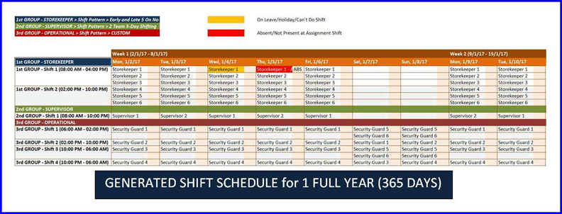 shift planner year