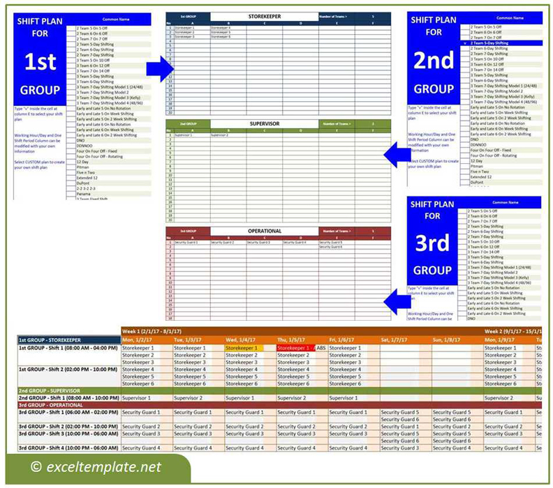 Employee Schedule Maker The Spreadsheet Page