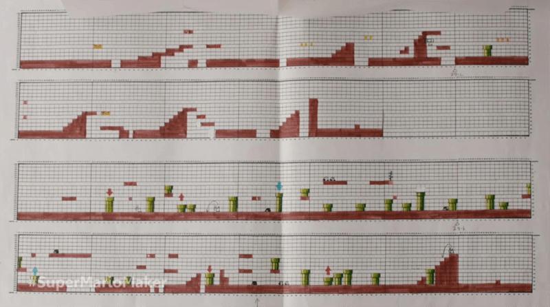 Super Mario graph paper