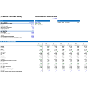 Discounted Cash Flow Valuation Excel