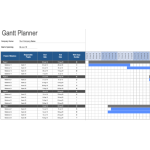 Gantt Chart for Multiple Projects