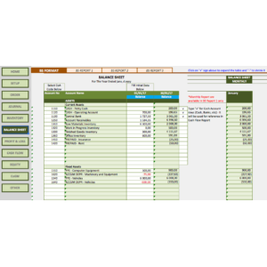 Manufacturing Business Accounting Templates