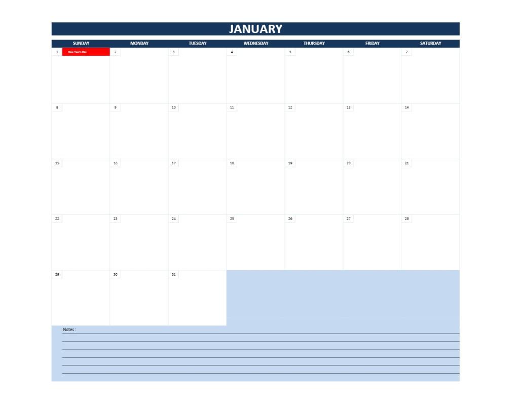 2017 Calendar Template Model 13