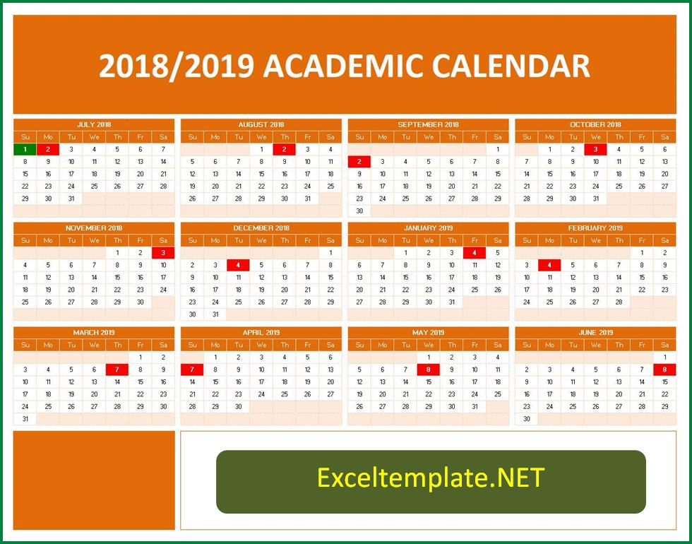 Yearly School Calendar - Calendar